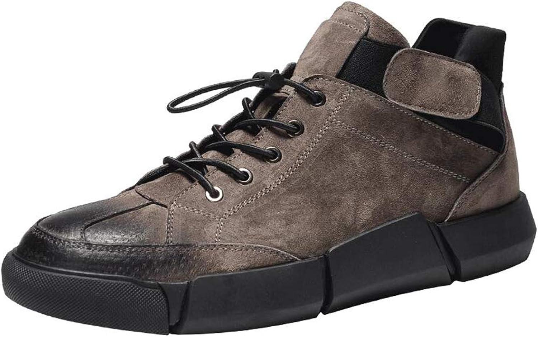 43f8e079d640 QIDI Casual shoes Male Winter Flat Lace Wear Resistant Retro ...
