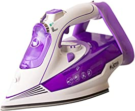 Joya Steam Iron with Ceramic Soleplate (2400W) | Overheat safety protection | Powerful Burst of Steam | Purple & white
