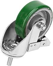 Medium groen 4-inch zwenkwiel, trolleyzwenkwiel, voor trolley-trolley-uitrusting Vervangende wiel-wandelwagen