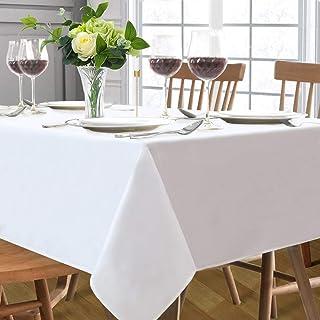 سفره سفره ای مستطیل سفید 60x84 اینچ پارچه میز تزئینی پارچه ای تزئینی پارچه ای تزئینی برای آشپزخانه ناهار خوری تزئینات میز جشن دوش عروس