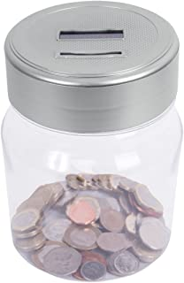 Global Gizmos Digital Money Jar ~ All UK Coins ~ Automatic Counting and Saving ~ LCD Total Screen ~ 82250