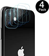 MoKo Compatible with iPhone 11 Camera Lens Protector, [4-Pack] 9H Hardness Scratch Resistant Ultrathin Tempered Glass Camera Lens Protector Film Fit Apple iPhone 11 6.1 inch 2019 - Clear