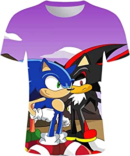 Dcoolone Sonic Kids Shirt The Hedgehog 3D Print T Shirts Fashion Graphics Tops Tee for Girls and Boys
