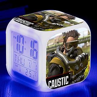 Jacobera APEX Legends Digital Alarm Clock, Wake up Clock with 7 Colors Nightlight LED Display