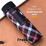 Frabble8 Double Wall Vacuum Insulated Stainless Steel Water Bottle, Travel Thermos Flask- 500