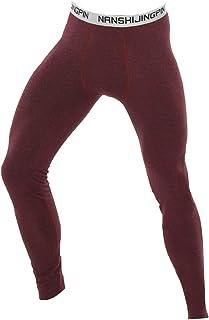 YiZYiF Men Thermal Long Johns Warm Leggings Training Jogging Running Tights Sports Pants Activewear