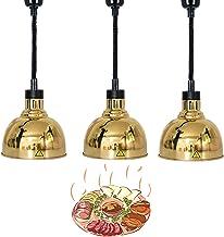 Lampe Chauffante pour Aliments Commercial, Lampe Chauffe-Plats Réglable 60-180cm, Lampe D'isolation Alimentaire pour Pizza...