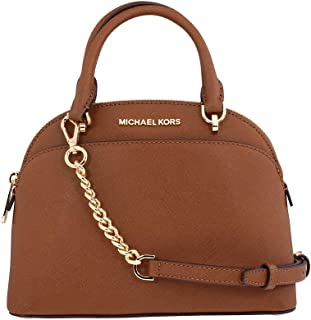 Michael Kors Emmy Ladies Small Leather Dome Satchel Handbag 35H7GY3S1L
