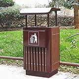Poubelles extérieures poubelles en bois grand cendrier en métal commercial classique poubelle de classement cigarette poubelle taille moyenne (Size : Medium)