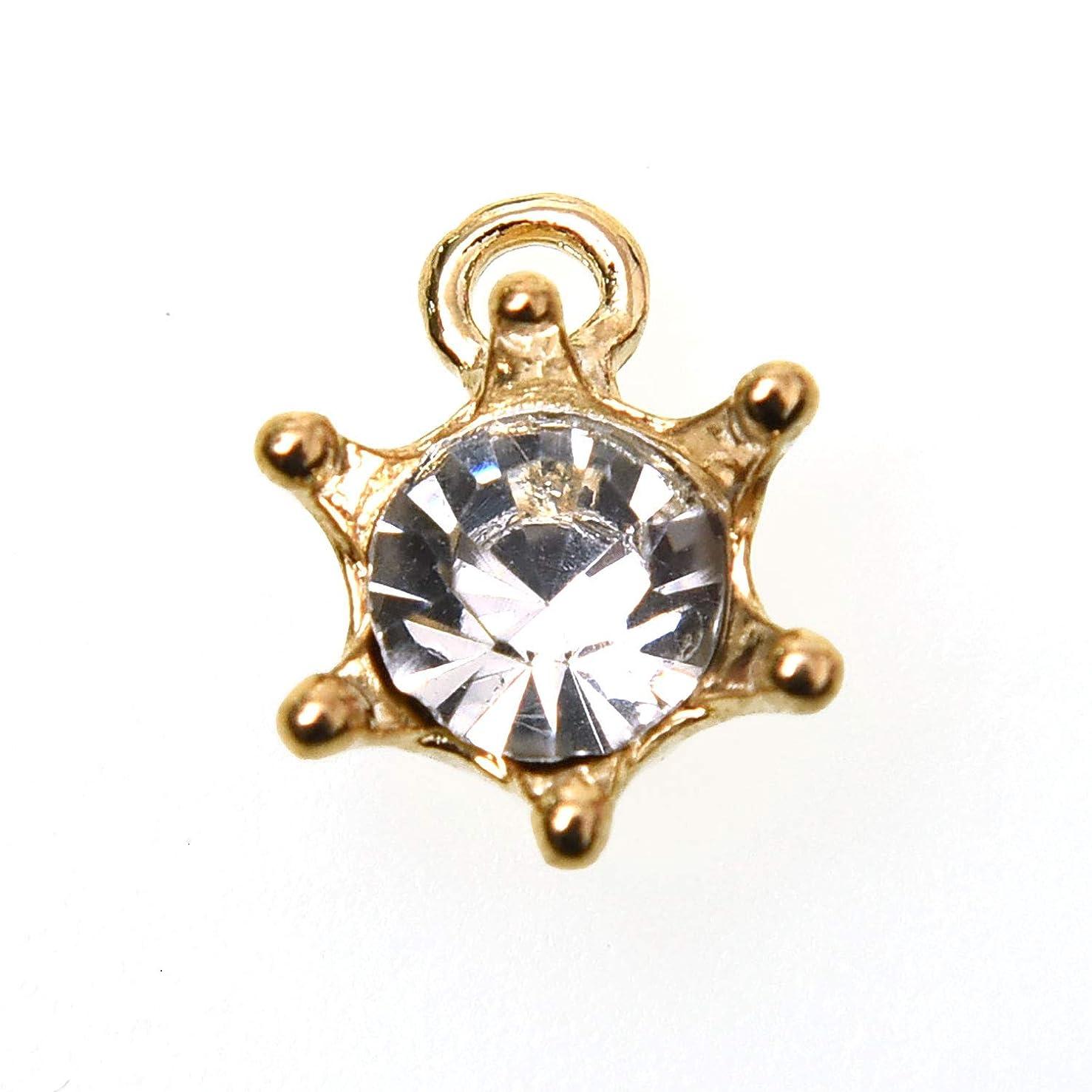 Monrocco 100 pcs Cute Crystal Gold Crown Rhinestone Jewelry Pendant Charms
