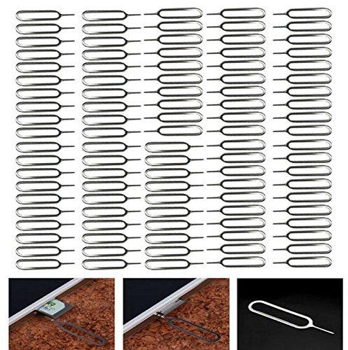 PPdigi SIM Karten Simkarten Nadel(100er Packung) Öffner Entferner Pin Stift Werkzeug für iPhone 4 4S 5 5s 6 6 Plus 6s Plus 7 iPad air pro Mini etc.