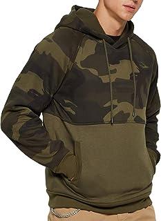 Sublevel Men/'s Khaki Camo Sweatshirt