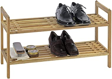 WENKO Etagère Chaussure, étagère chaussure bois, modulable, 69 x 40.5 x 27 cm
