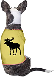 RSADGER Pet Clothing Moose Logo Printed T Shirts Dogs Summer Vest Puppy Pet Shirt