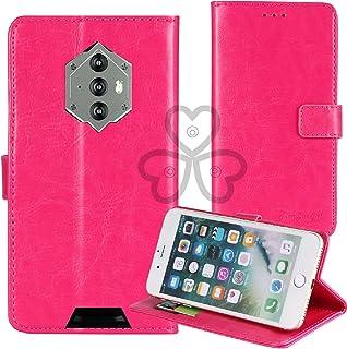 TienJueShi ピンク ビジネス レトロ 耐汚れ スタンド 財布 レザー 合皮 Case Cover Blackview bv6600 5.7 inch カード収納 カバー ケース ポーチ 手帳型