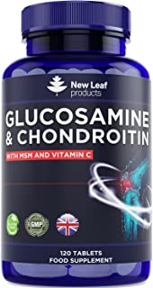 Glucosamine and Chondroitin High Strength - with MSM Extra Absorbency Enriched with Vitamin C, Glucosamine Sulphate Chondr...