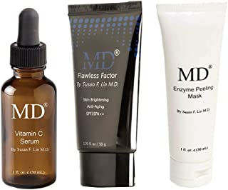 MD Beauty Essentials Bundle- Vitamin C Serum, BB Cream with SPF35, and Enzyme Peel Mask