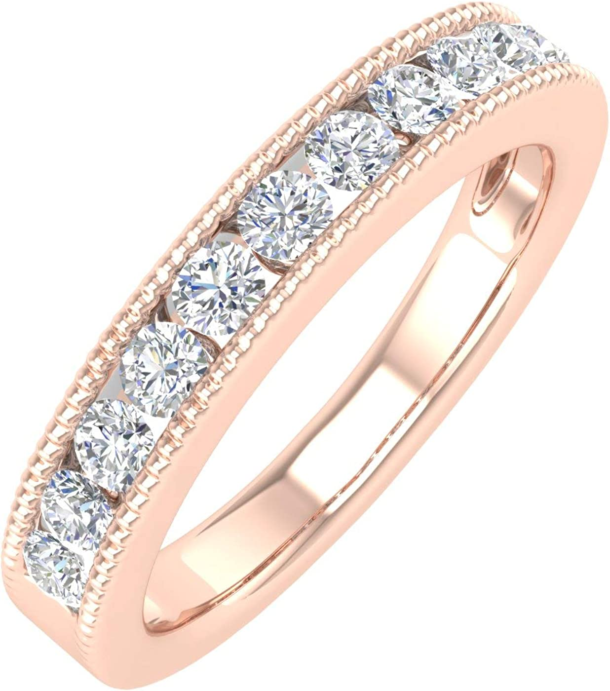 1 2 Carat Channel Set 2021 Popular popular spring and summer new Diamond 14K Band Wedding Ring in Gold