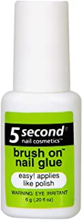 5 Second Brush On Nail Glue 0.2 oz (Pack of 3)