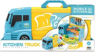 2 in 1 Kitchen Truck car with light and sound