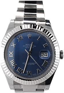 Rolex Datejust II Grey Dial White Gold Bezel Stainless Steel Mens Watch 116334GYBLAO