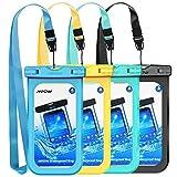 Best Galaxy Note 4 Waterproof Cases - Mpow Universal Waterproof Case, 4-Pack Waterproof Phone Pouch Review