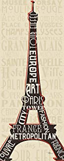 DìMò ART Bild Druck auf Leinwand Leinwand Leinwand mit Rahmen in Holz Pela Studio Paris City Words I 150x60 cm 150x60 cm B07DYSZWZF  Stilvoll und lustig 09888a