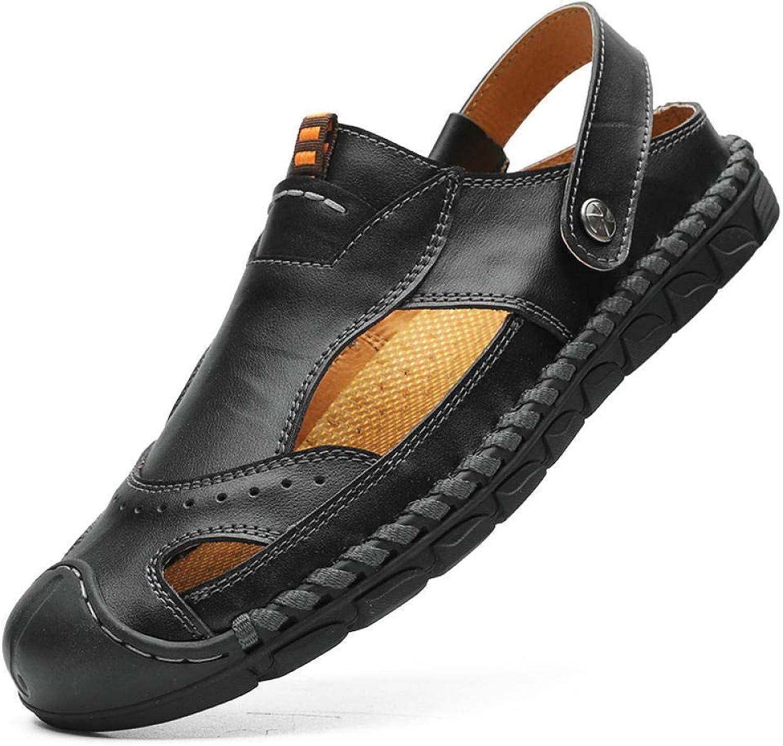 Sommer Herrenschuhe_2019 Leder Groe Eu Sandalen Herren Creek Schuhe Schuhe Outdoor Schuhe Schwarz_45