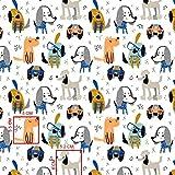 Pingianer 11,99€/m 100x160cm Hunde Hund Bunt 100%