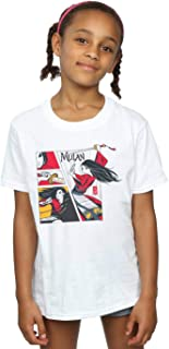 Disney Girls Mulan Movie Comic Style T-Shirt