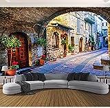 Carta da parati Carta da parati fotografica personalizzata Murale 3D Città italiana Vista stradale Paesaggio europeo Rivestimento murale Papel De Parede