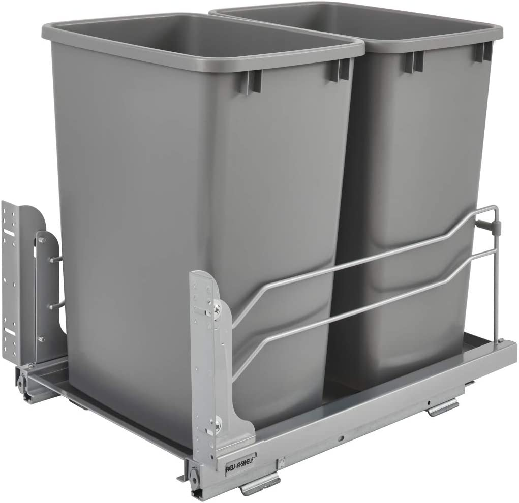 Rev-A-Shelf 53WC-1835SCDM-217 Double 35-Quart Mou Pull-Out Under Spring new work Under blast sales