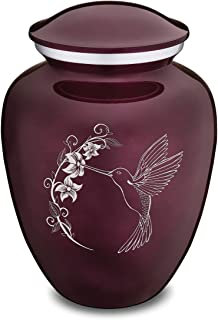 GetUrns Adult Embrace Cherry Purple Hummingbird Cremation Urn