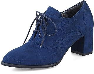 Details about  /Vintage Style Round Toe Ladies Women/'s Oxfords Brogue Low Heel Shoes 3 Colors B