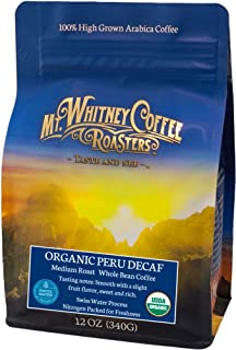Organic Peru Swiss Water Process Decaf (Whole Bean), 12oz