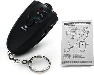 Topsame Portable Police Breath Alcohol Tester Breathalyser Mini Analyzer Detector with Key Ring flashlight
