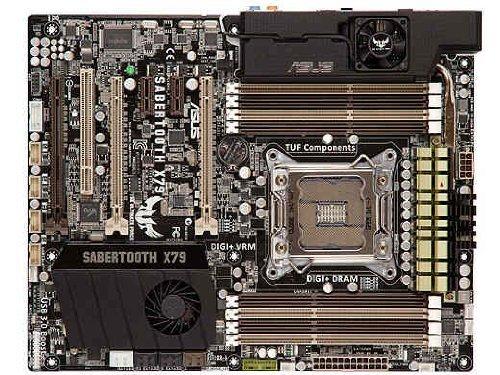 ASUS Sabertooth X79 LGA 2011, Intel X79, SATA, 6 Gbit/s (USB 3.0 ATX Motherboard Intel