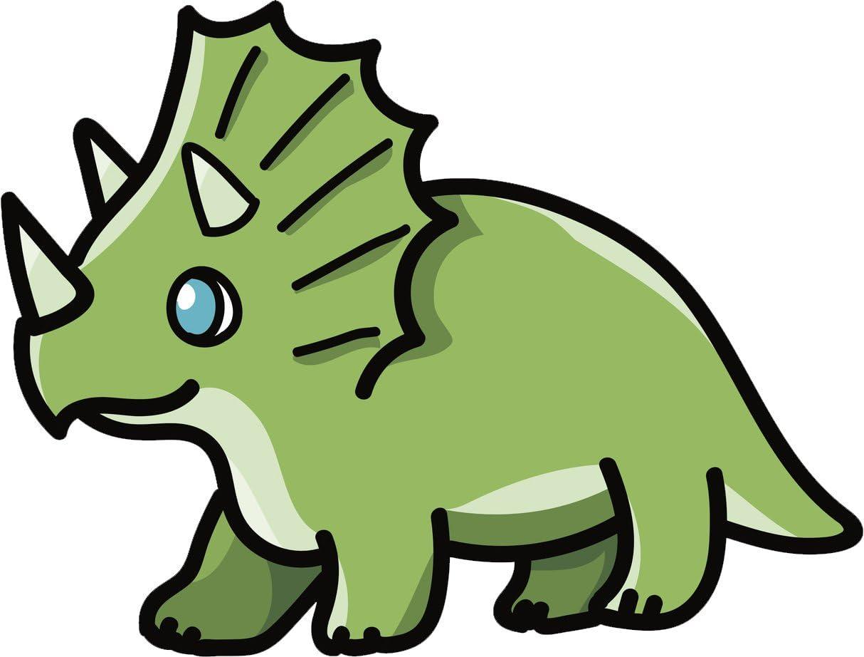 Amazon Com Divine Designs Cute Green Baby Triceratops Dinosaur Cartoon Vinyl Decal Sticker 12 Wide Automotive