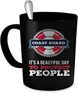 Coast Guard Coffee Mug. Perfect Gift for Your Dad, Mom, Boyfriend, Girlfriend, or Friend - Proudly Made in the USA! Coast Guard gift