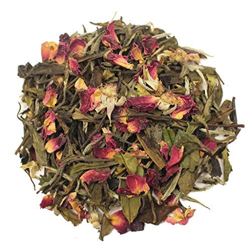 The Tea Farm - Rose White Floral Tea - Loose Leaf White Tea (16 Ounce Bag)