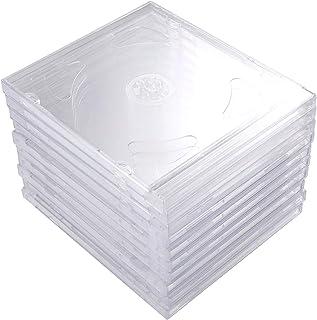 SOLUSTRE 10Pcs Cajas de DVD Transparentes Cajas de Almacenamiento de CD Cajas Protectoras de CD para Estudio de Cine en Casa