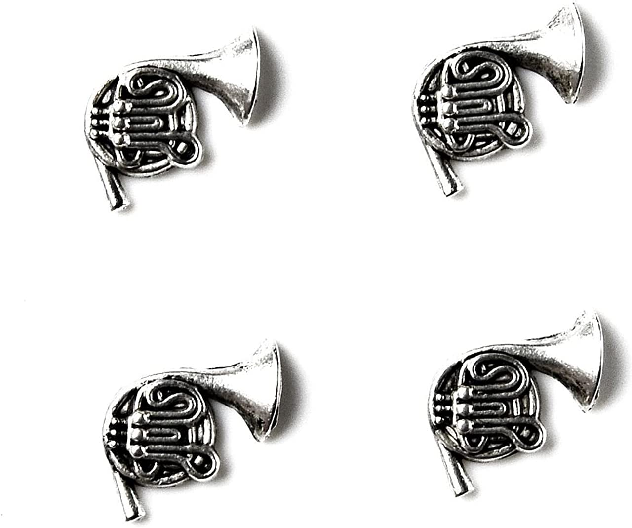 Quality Handcrafts Guaranteed French Horn Tuxedo Studs