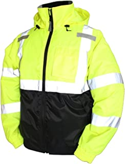 Bomber Ii High Visibility Waterproof Jacket, Yellow, L