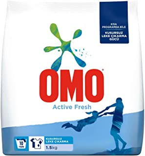 Omo Active Fresh Beyazlar İçin Toz Çamaşır Deterjanı,1.5 Kg,10 Yıkama