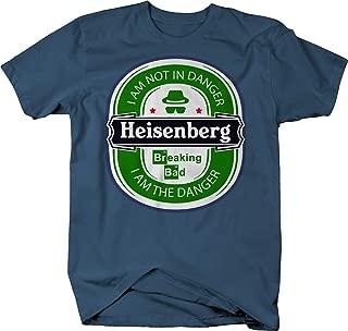 Beer Drinking Heisenberg Walter White I am Not in Danger Nerd Tshirt