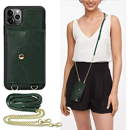Black iPhone 11 Pro Max Wallet Case LAMEEKU iPhone 11 Pro Max Case with Card Holder Shockproof Leather Purse Cover Case with Crossbody Strap Wrist Strap for iPhone 11 Pro Max 6.5 inch
