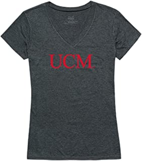UCM University of Central Missouri Mules Womens Institutional Tee T-Shirt Heather Charcoal