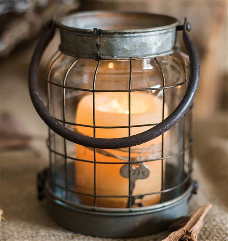 Candle Holder Lantern Metal Glass Vintage 5 Mini Retro Light Tea Tucson Mall High order