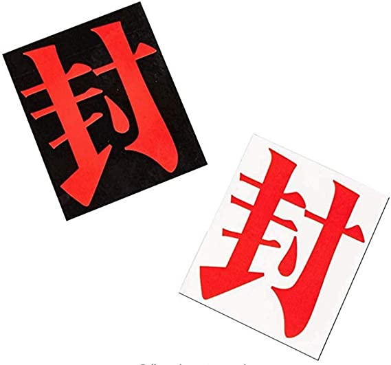 2 Black and 1 White Voltageup Toilet-Bound Hanako-kun Face Stickers Props Cosplay Anime Accessories Collection Props