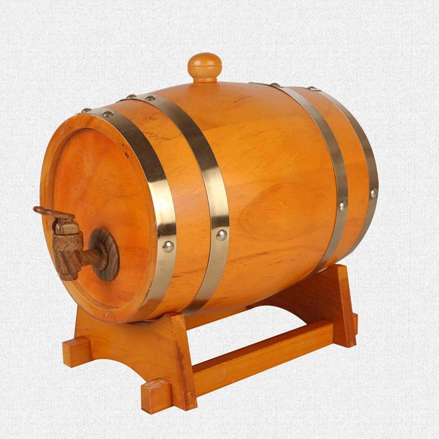 コミットメント脱走仕方GWM あなた自身のウイスキー、ビール、ワイン、バーボン、ブランデー、2色を貯えるための作り付けのホイルのパッドが付いているカシのバケツバレルの飲料機械 (Color : A, Size : 225L)